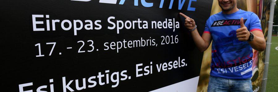 Izsludinot Eiropas Sporta nedēļu, Latvijas iedzīvotājus aicina kļūt kustīgākiem